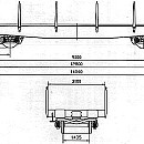 WAGON, 4AXLED, FLAT, FOR HEAVY LOADS, Smmps type