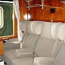"""Запазен оргинален интериор на вагон-салони от """"Корона експрес"""""""