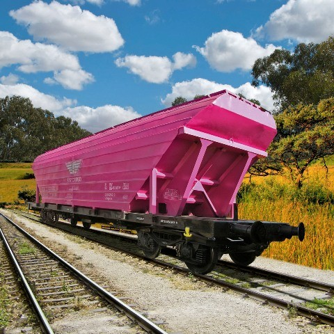 WAGON, FREIGHT, 4-AXLED, FOR THE CARRIAGE OF LOOSE /GRANULATED/ GOODS, Uagpps type